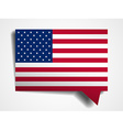 USA flag paper 3d realistic speech bubble on white vector image
