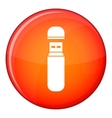 USB flash drive icon flat style vector image vector image