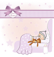 welcome new baby girl vector image