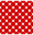 White Polka dot Chess Board Grid Red Background vector image vector image