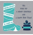 Winter boots with Christmas ornaments vector image vector image