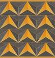 yellow color triangle pattern vector image vector image