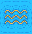waves sign sand color icon vector image