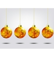 Christmas balls over elegant background EPS 8 vector image