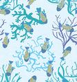 Fish in sea underwater pattern seamless texture vector image