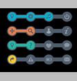 navigation menu bars vector image