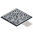 3d maze isometric view labyrinth puzzle game vector image