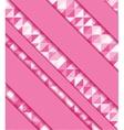 Abstract colorful mosaic and ribbons vector image vector image