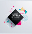 abstract geometric pattern design and background vector image vector image