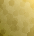 Abstract yellow background with hexagons vector image