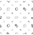 africa icons pattern seamless white background vector image vector image