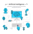 Artificial Intelligence Line Poster vector image vector image