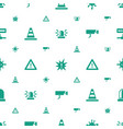 attention icons pattern seamless white background vector image vector image