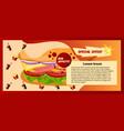 banner fast food choose menu information vector image