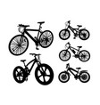 bicycle transportation silhouette vector image