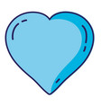 blue heart cartoon vector image