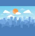 blue sky cityscape vector image vector image