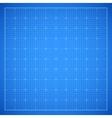 Blue square grid blueprint vector image vector image