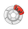 brake disc icon isolated on vector image vector image
