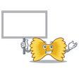 bring board farfalle pasta character cartoon vector image vector image