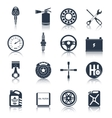 Car parts icons black vector image vector image