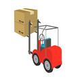cargo transportation by means of a loader vector image