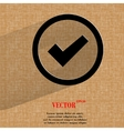 check mark Flat modern web design on a flat vector image vector image