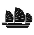 china ship icon simple style vector image