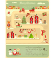 Christmas characters on City Map vector image vector image