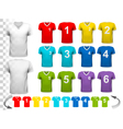 Collection of various colorful soccer jerseys with vector image vector image