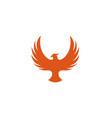 creative pheonix logo design symbol vector image vector image