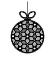 decorative white lace christmas ball toy on beige vector image vector image