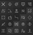 design and graphics linear icons collection vector image vector image