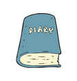 digitally drawn diary book design hand drawing vector image