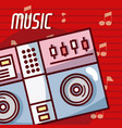 dj turntable modern music equipment vector image