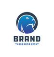 eagle head logo design vector image