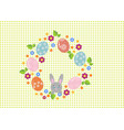 easter wreath with easter eggs on white background vector image vector image