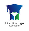 education abstract logo image vector image vector image