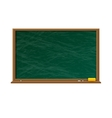 Empty green chalkboard with wooden frame vector image vector image