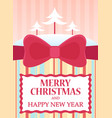flat merry christmas vector image vector image