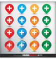 Four sets of four positions of map Colored Button vector image vector image