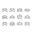gamepads icon set in thin line style vector image vector image