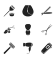 Hairdresser set icons in black style Big vector image vector image