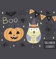 halloween isolated elements vector image