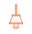 hanging light bulb efficient electric vector image