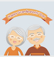 happy grandparents day with grey hair vector image vector image