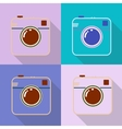 Hipster photo or retro camera icon with shadow vector image