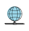 isolated global sphere design vector image vector image