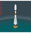 Isometric russian space rocket souz vector image vector image