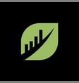 leaf business finance professional logo template vector image vector image